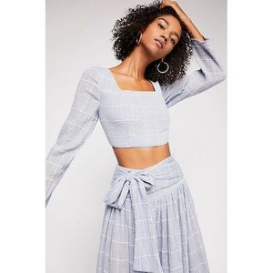 Free People Celeste Blue Crop Top